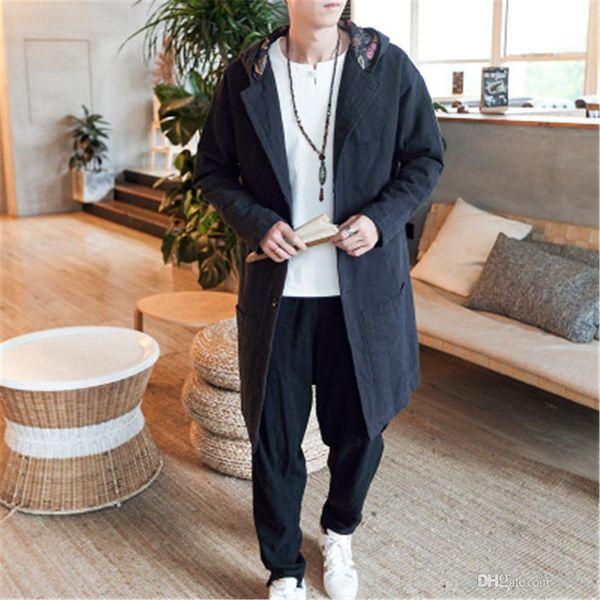 Traditional Chinese Tang jacket Winter Cotton linen hooded Cloth Tang Clothing Coat Wing chun Kung fu shirt thick cotton-jacket M3-691