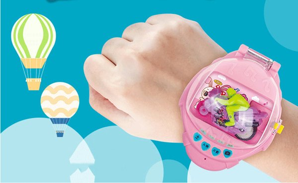 Mini Remote Control Watch RC Car Toy Model Kids Catapult Vibrating Car Educational Toys Children's day For Children Boys B1001