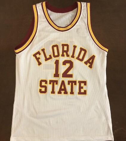 Männer # Seltener Meister 1992 Florida State Charlie Ward Basketball Jersey Stickstiche oder benutzerdefinierte Namen oder Nummer