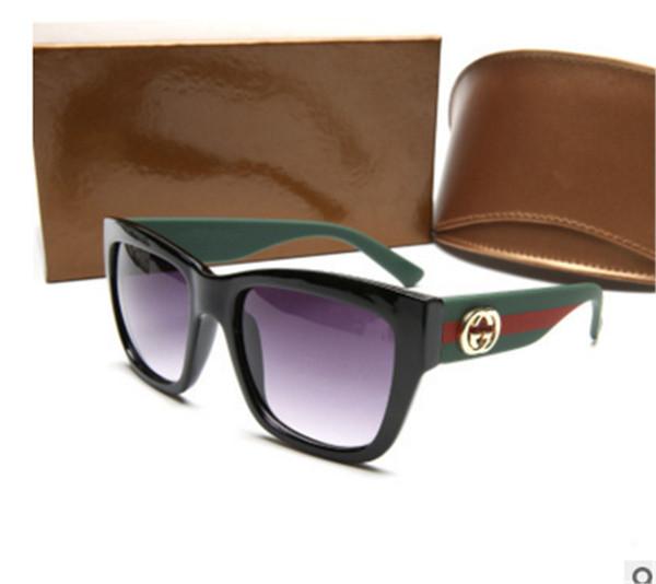 Luxusdesigner von Modesonnenbrillen mit 2018 großen Rahmen und farbigen Brillen mit Box