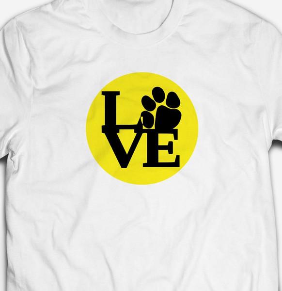 MENS LOVE DOGS T-SHIRT 100% COTTON ANIMAL DOGS CATS NATURE WILD TEE TOP T SHIRT Men Women Unisex Fashion tshirt Free Shipping