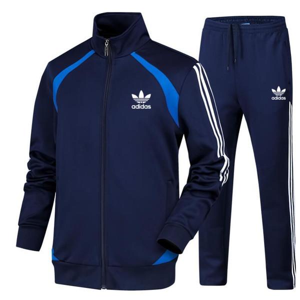 Erkekler Spor Hoodie Ve Tişörtü Siyah Beyaz Sonbahar Kış Jogging Yapan Spor Takım Elbise Erkek Ter Takım Elbise Eşofman Set 614-6711