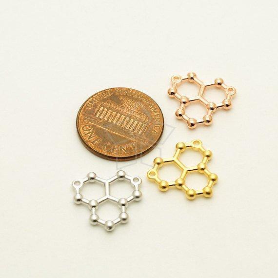 5pcs lucky geometric Water Molecule Necklace Science STEM Necklace Chemistry pendant Necklace ice Hydro molecule H2O formula jewelry