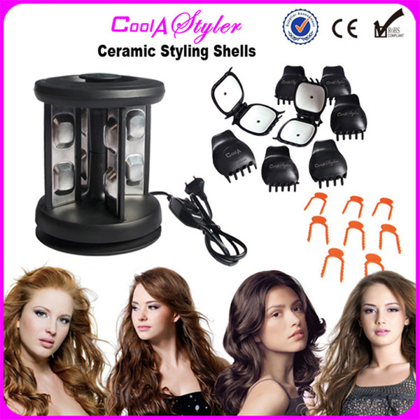 Magic Solid Ceramic Styling Shell DIY Electric Hair Curling Iron Hairstyling Roller waving Curler Tool Styler Salon Spiral Wave