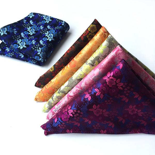 Herren Paisley Blume Seide Taschentuch Einstecktuch Hochzeit Taschentücher Pro