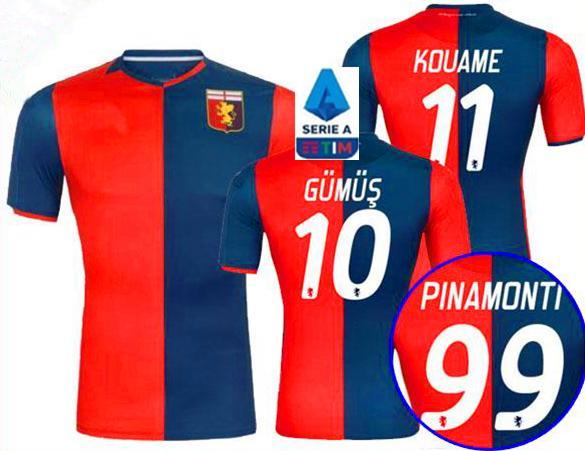 2020 nuovo Genoa Cricket calcio Jersey 19/20 PINAMONTI KOUAME Divisa da calcio per adulti PANDEV Schöne RADOVANOVIC Football Shirt Ragazzi Maglie