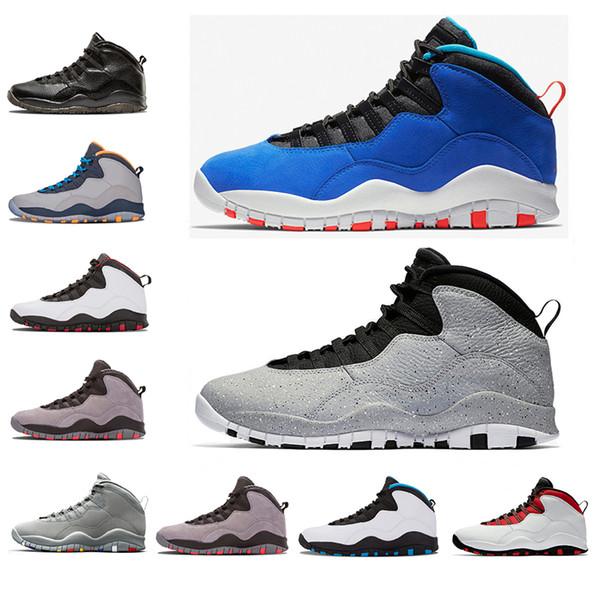 Moda hombre 10 10s Zapatos de baloncesto Cemento Tinker fusión rojo Bobcats Chicago veneno blanco de alta calidad para hombre entrenadores de diseño Calzado deportivo
