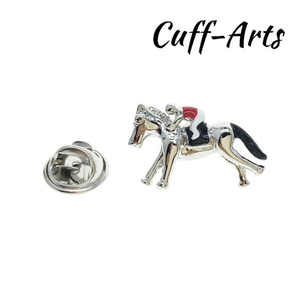 1dcc9cceb3d Lapel Pin For Men Pins and Brooches Jockey on Horseback Lapel Pin Jewelry  Broche PIN de