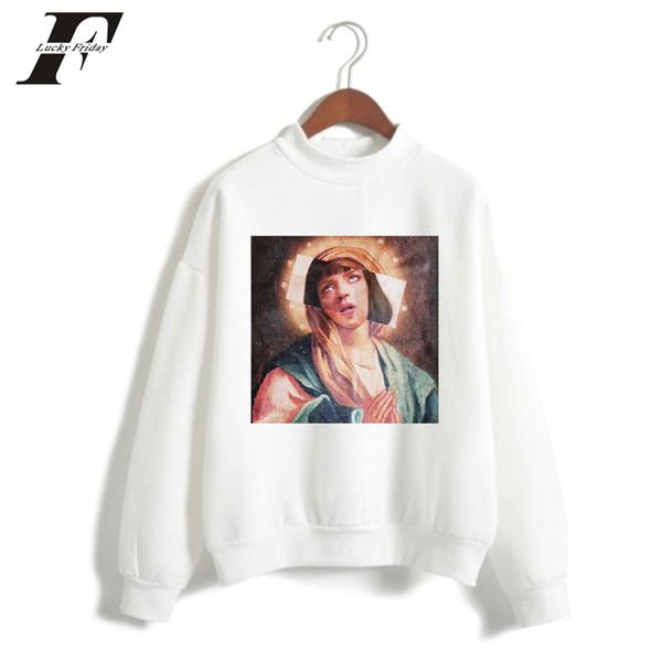 Kpop Streetwear Virgin Mary Print Sudadera con capucha de los hombres Streetwear divertido Hombres / mujeres Sudaderas con capucha ocasionales Sudaderas Jerseys Tops