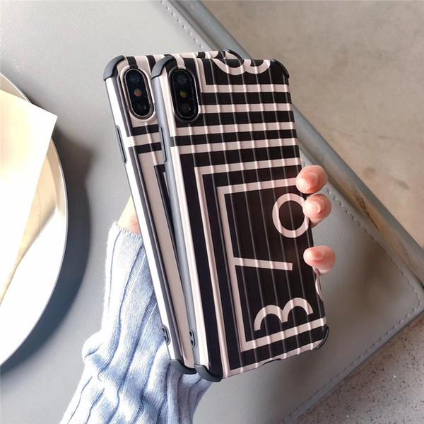 Einteiliger Luxustelefonkasten für iPhone 6S 7 P X XS Art und Weisefigur mit rückseitiger Abdeckung des Anti-Fall Stamm-Entwerfer-Telefonkastens