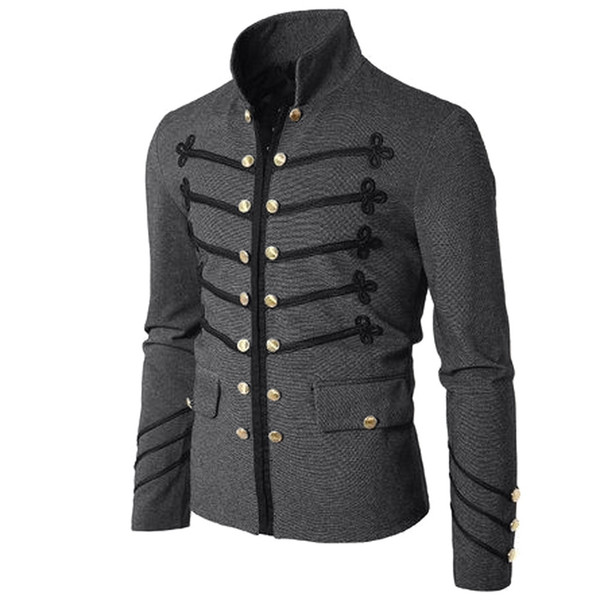 Clothing coat Men's Casual Jacket S-5XL Spring and Autumn Hot Sale Coat Solid Color Slim Gothic Style Fashion Boy
