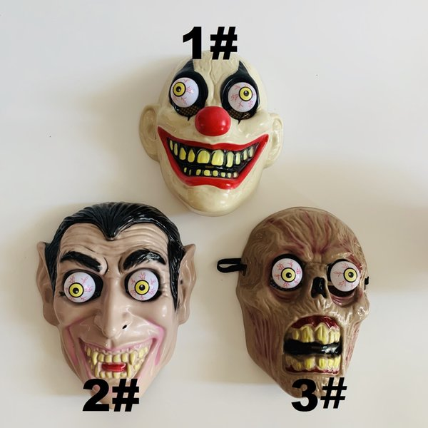 zombie deign PVC full-face Mask for Festival/New Year party Halloween Costume Cosplay 3 styles for your choice free shipping mini order 6pcs