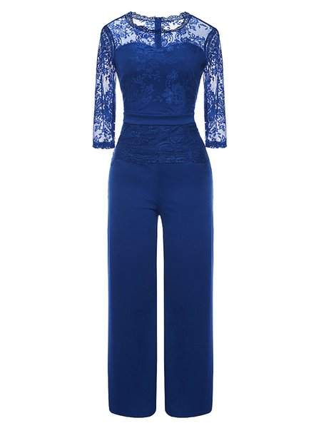 blue jumpsuit