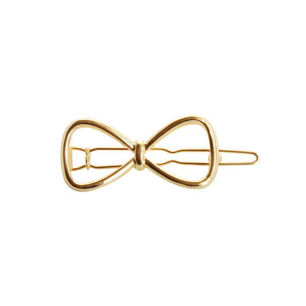 свободная перевозка груза 10pcs / серия ювелирных изделий металла золота лук Зажимы Заколки для волос