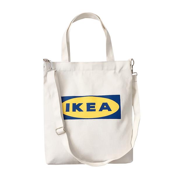 Новой мода дама сумка Письмо печать ткань Холст сумка хлопок Покупка товары Путешествие Женщина Eco многоразовые плечи Shopper сумка