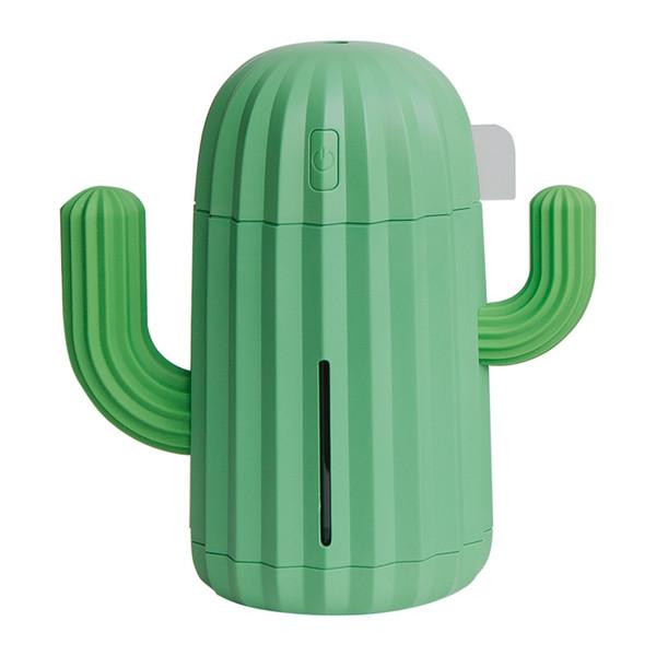 USB Мини-Cactus Форма мультфильм Увлажнитель воздуха Эфирное масло Диффузор Кактусы Аромат Диффузор с Night Light 340ml Бесплатная доставка
