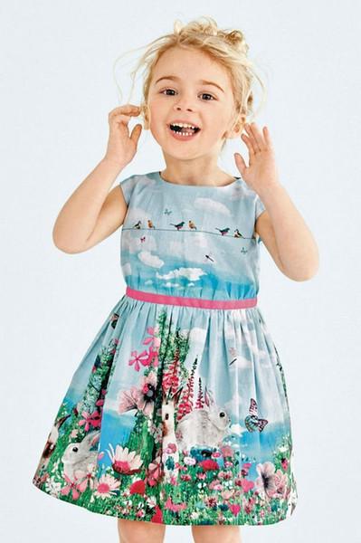 Baby Girls Dress New Summer Girl Dress Sleeveless Rabbit Pattern Tutu Dresses for Girls Baby Girl Clothing