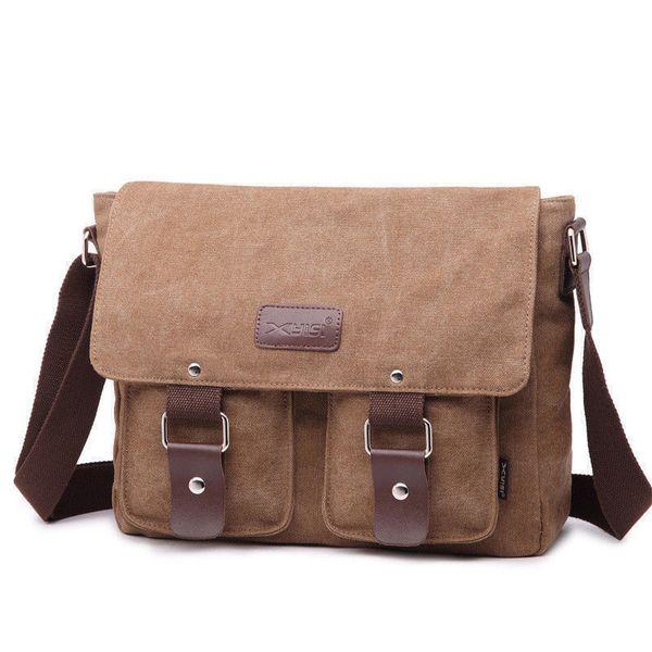 good quality High Quality Men Messenger Bags Men's Vintage Canvas Satchel Shoulder Bag Brand Fashion Male Casual Travel Bag Book Bag