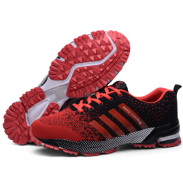 2019 hot men\'s and women\'s outdoor sports running jogging shoes men\'s belt with non-slip comfortable breathable sneakers k1