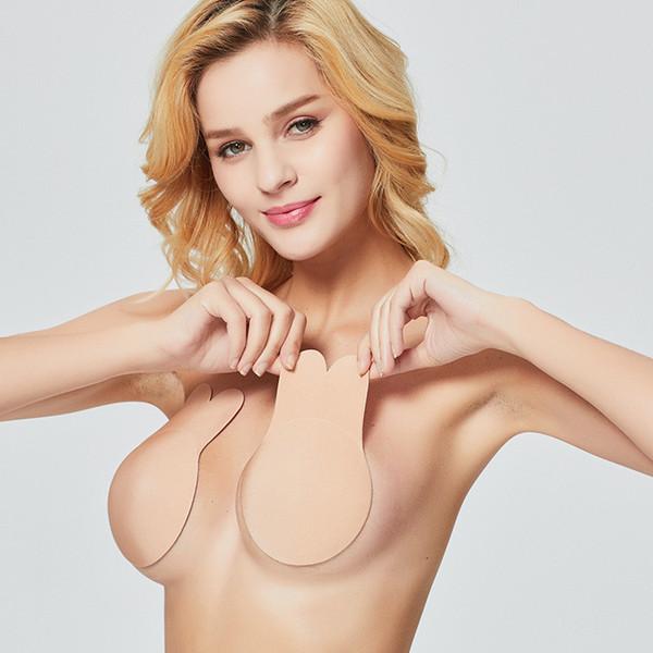 Selbstklebende Push Up Bh Dünne Silikon Invisible Bh Nipple Cover Aufkleber Unterwäsche Nahtlose Hochzeit Bikini Strapless Bh Pad