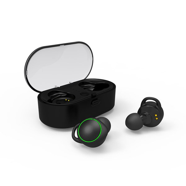 One piece T02 mini TWS stereo bluetooth 5.0 Sport earphone with Charging box for IOS android mobile phone