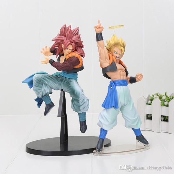 Frete Grátis 20 cm Dragon Ball Super Saiyajin 4 Gogeta PVC Figura de Ação Toy Dragon Ball z figura colosseum