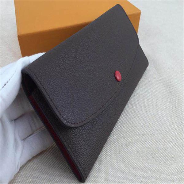 Lüks cüzdan tasarımcı cüzdan bayan tasarımcı çanta çantalar debriyaj cüzdan deri tasarımcı çanta kart sahibinin çanta kutusu ile 60136 609102