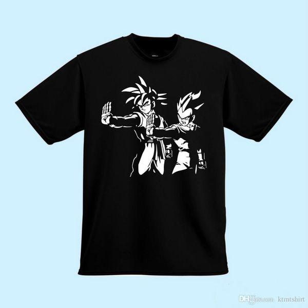 Dragon Ball Z Pulp Fiction camisa de Goku Vegeta camiseta camiseta del regalo de camiseta