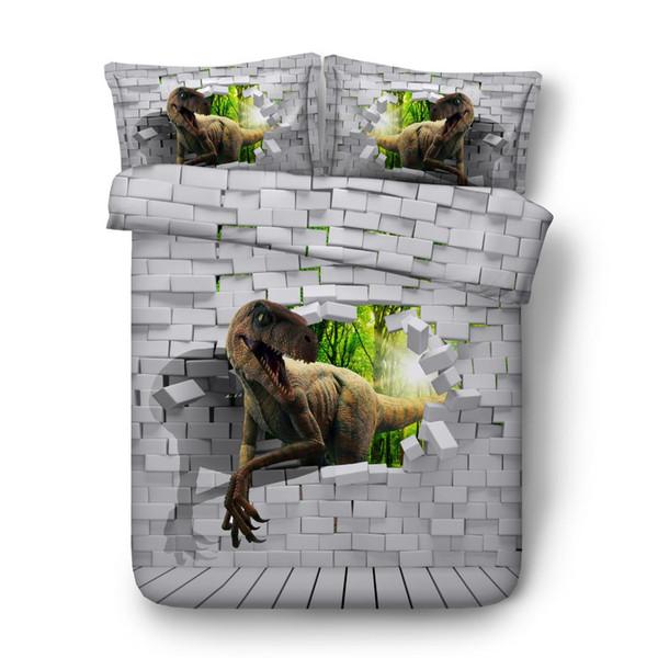 3d dinosaur print adult Cartoon Dinosaur Bedding Set Kids Full Queen king Double Size Duvet Cover Set Bedclothes quilt cover
