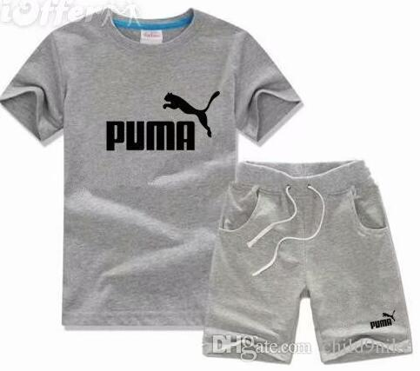 2018 New Children's Clothing Boys and girls Summer T-shirt Shorts Sports Suit Set Children Boy Baby Kids Fashionable School Uniform Out