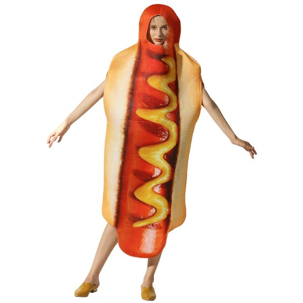 Costume de scène Halloween performance Halloween nourriture en trois dimensions hot-dog