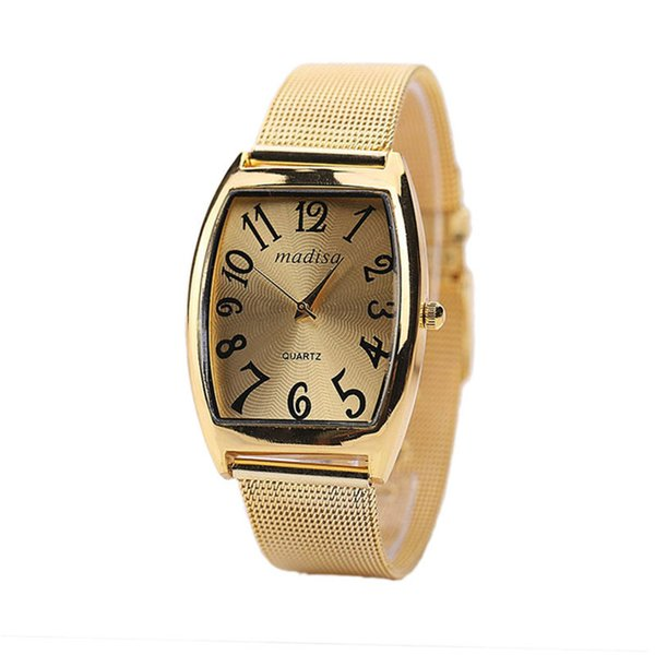 2019 Mode Lässig Quarzuhr Frauen Mädchen Weibliche Sipmle Tonneau Uhr Geschenk Armband Strap Analog Armbanduhr 4a