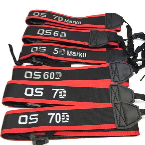 10pcs / spalla fotocamera lot cinghia tracolla neckband cinghia ricamo per il canone 60D / di 550/600/650 / telecamera 6D / 7D / 5D2 / 5D3 / 50D