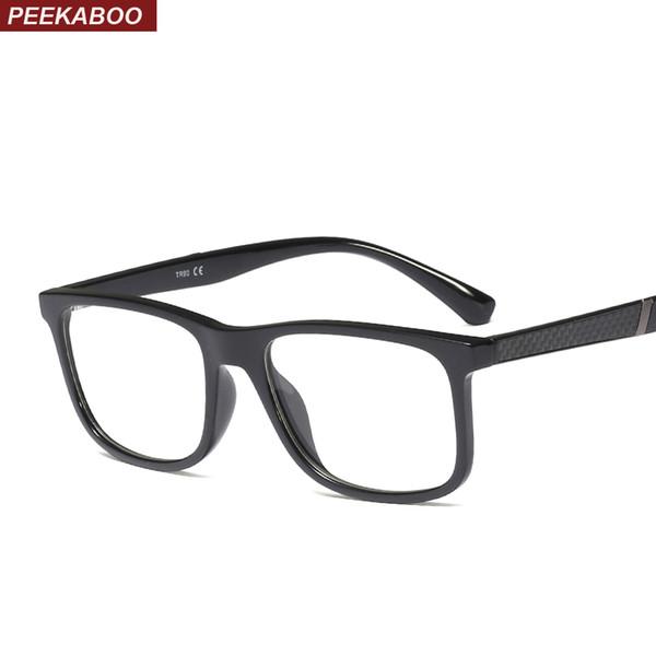 6275b49255a Peekaboo TR90 eyeglasses frame women rectangle high quality 2019 square optical  glasses frame men brand hot selling