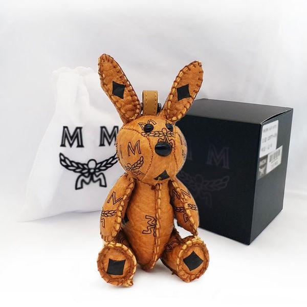 vendita calda portachiavi in pelle coniglio borsa ciondolo modelli femminili carino catena chiave dell'automobile moda zaino appeso ornamenti wke90a