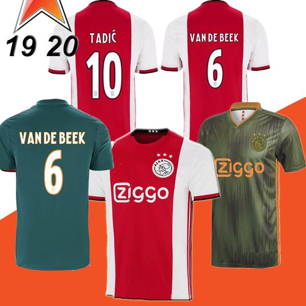 19 20 футбол ajax футболка DE JONG DE LIGT футбол VER DE BEEK NERES 2019 2020 Camisa футбол футбол