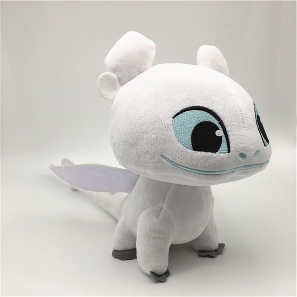 5.1 inch How to Train Your Dragon 3 Plush Toy Toothless Light Fury Soft Cotton Doll White Dragons Stuffed Animals Toys Gift