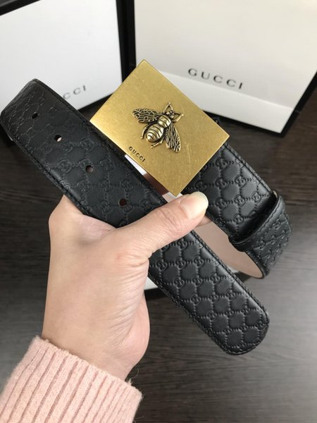 AAA2019women's trousers casual sports trousers belt women fashion high-quality leather designer luxury luxury leather belt3.8