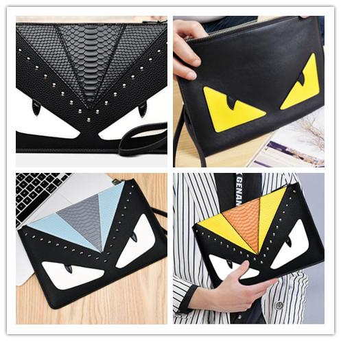 top popular Fashion Designer Clutch bag 2018 New Embroidery Little Bee Men and Women Hand Bags Fashion Bags 2019