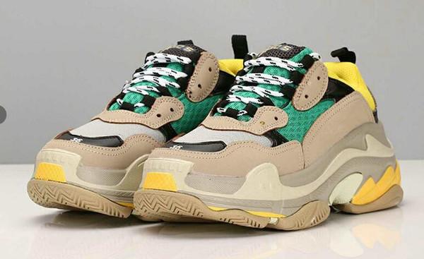 2019 Fashion Paris 17FW Sneaker Triple-S Triple S Casual Dad Shoes per Uomo Donna Beige Nero Ceahp Sports Designer Shoe Size 36-45