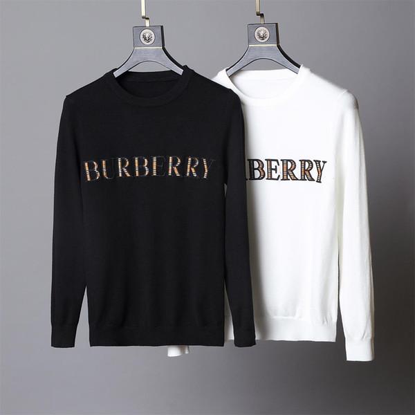 Мужские вязаные пуловеры 2019 новый зимний свитер Мужчины о-образным вырезом Повседневная вязка Джемперы Свитера Мужские толстовки известного бренда. # GG25