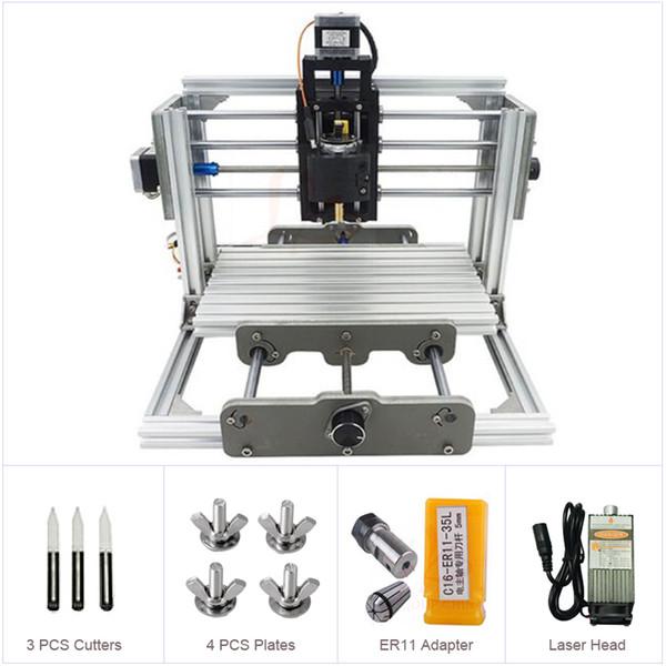 Russland Keine Steuer Mini CNC 2417 500-2500 MW Laser CNC Graviermaschine Holzschnitzerei Router mit GRBL Steuerung