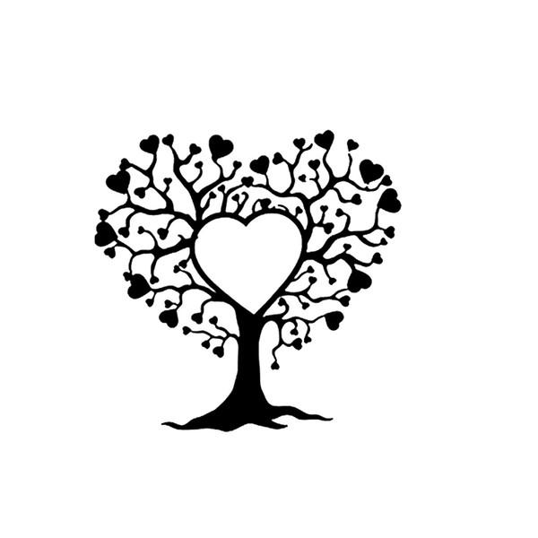 16.1*15.8cm Beautiful Tree of Love Hearts Branch, Vinyl Decal Sticker Car Truck Vehicle Bumper Window Car Sticker Car Accessories