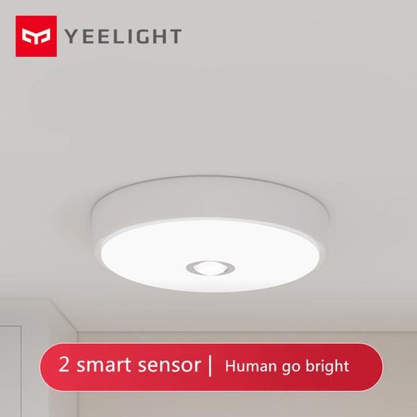 [HOT] Xiaomi Mijia Yeeligh t Sensor de teto Mini corpo humano / motion sensor de luz mini movimento inteligente noite mi luz para casa