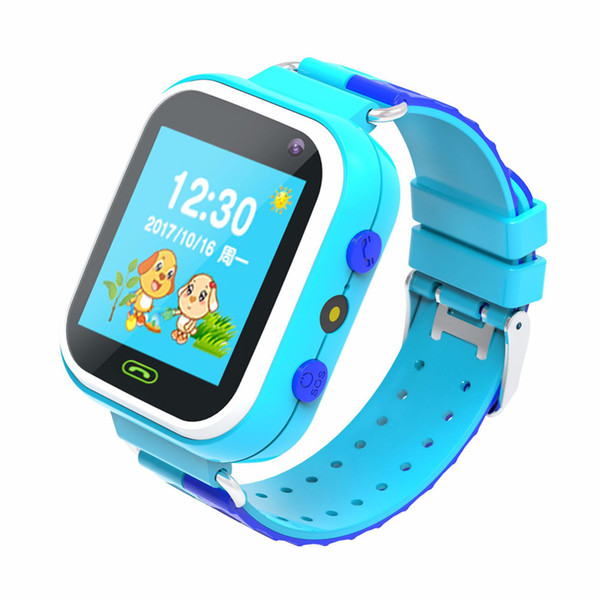 Children Smart Watch Phone with GSM Locator Screen Energy Saving Fitness Tracker Alarm SOS Smartwatch for Kids Gifts