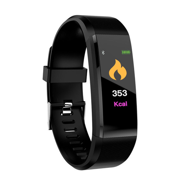 the 115plus Fitness Smart Watch Blood pressure heart rate sports color screen step meter bracelet watch heart rate