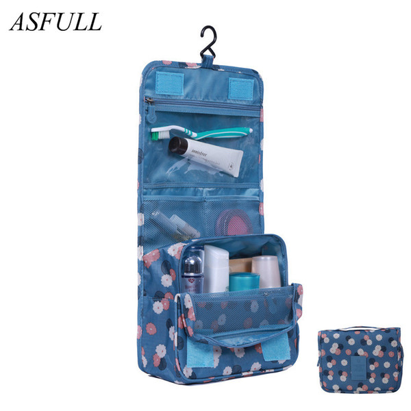 Storage ASFULL Useful New Fashion Toiletry Bags Wash Bag Cosmetics Bags,Travel Business Trip Accessories Luggage Waterproof bathroom use