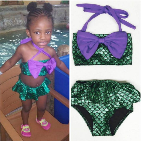 2019 new Mermaid Kids Swimwear Girls Bikini Due pezzi Costume da bagno per bambini Costumi da bagno Set da bambino Costumi da bagno per bambini Costumi da bagno A4065
