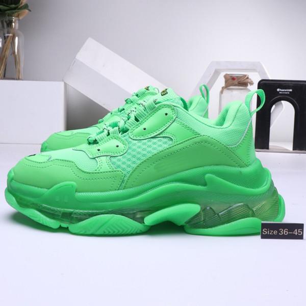 Acheter 2020 Balenciaga Triple S Shoes Crystal Bottom Sneaker Mode Mens  Vintage Kanye West Vieux Papa Formateurs Designer Mens Femmes Chaussures De