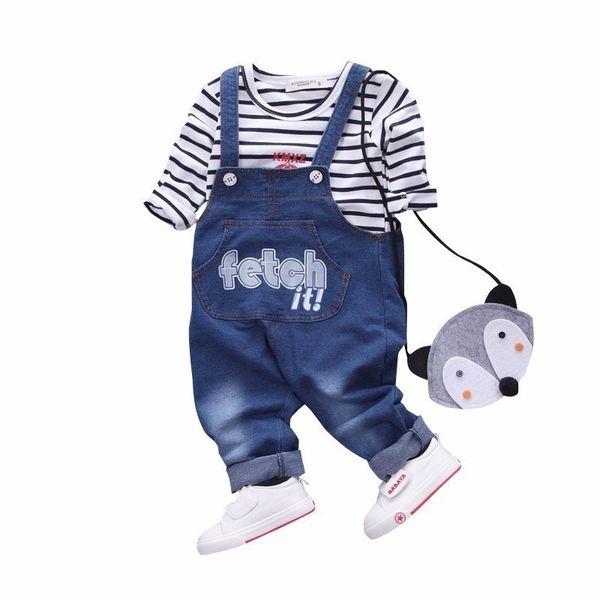 2019 Primavera Autunno Nuovi Abbigliamento per bambini Neonati maschi T-shirt a maniche lunghe in cotone T-shirt per bambini Tuta da neonato